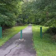 facing VA trail